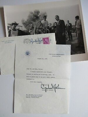Rare Vice President Lyndon Johnson Letter 1961 with Envelope & Photo
