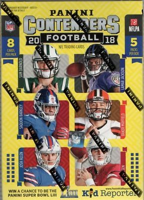 2018 Panini Contenders Football NFL Cards SEALED Retail Blaster Box 1 Hit