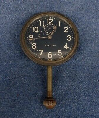 Waltham 8-Day Car Automobile Clock for Restore Parts Repair