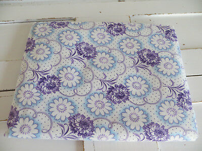 """Unused    Vintage  Duvet Cover Single   Floral Pattern Tiny Dots  50 """" by 76 """""""