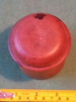 vintage Treen wooden pot box with lid nice condition