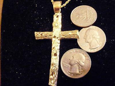 bling gold plated CHURCH cross crucifix pendant charm hip-hop NECKLACE JEWELRY