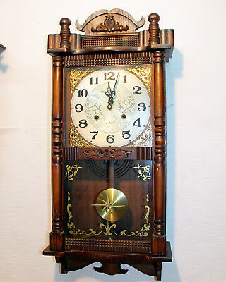 Old Wall Clock Chime Clock  Regulator 31 Day