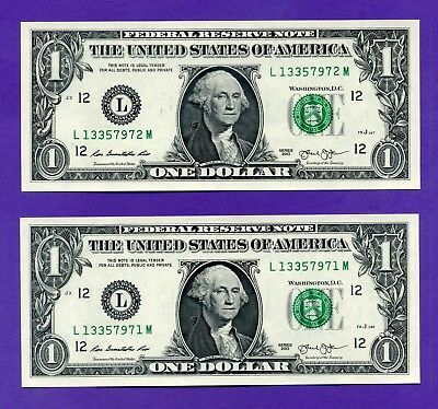 YOU GET 2! $1 SAN FRANCISCO 2013 #L/M UNCIRCULATED One Dollar Notes + HOLDER