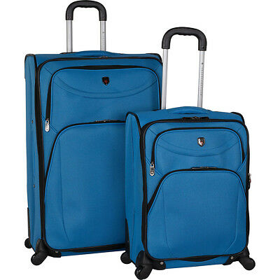 Travelers Club Luggage D-Luxe 2 Piece Expandable Luggage Set NEW