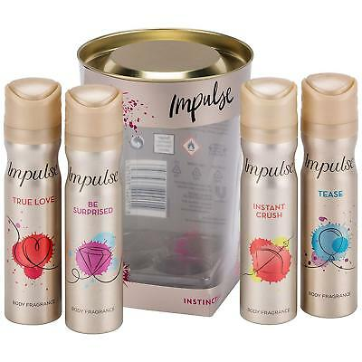 Body Fragrance Set Impulse Sprays Deodorants Christmas Gift For Women Girls Size