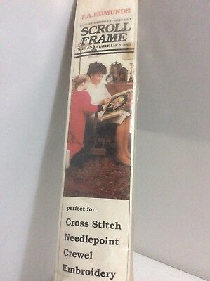 Unused New F.A Edmunds Hardwood Split Rail Scroll Frame Cross Stitch Embroidery