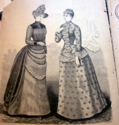 RARE 1800s Butterick Clothing Catalog Delineator 1887