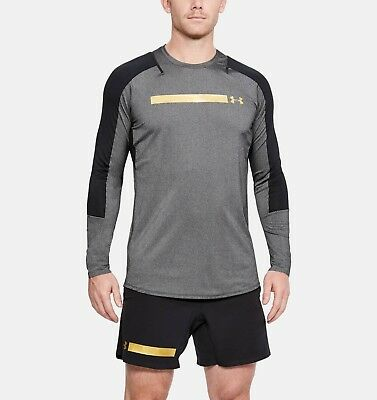 Under Armour Long Sleeve Top Gym Sports Tee T-Shirt UA Size S M L XL XXL Grey