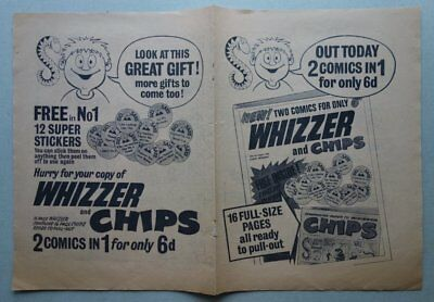 Whizzer and Chips comic #1 FLYER (1969) VG/Fine (phil-comics)