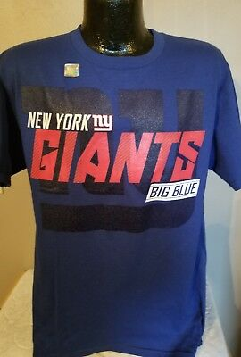 74f47400 NFL NEW YORK Giants Football Schedule T Shirt Mens Blue Clearance Sale WOW