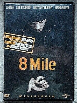 8 Mile (DVD, 2003, Widescreen Censored Bonus Materials) Eminem, Kim Basinger