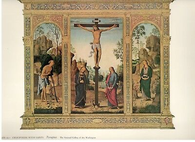 "1953 Vintage ITALIAN /""THE CRUCIFIXION/"" FRA ANGELICO COLOR Art Print Lithograph"