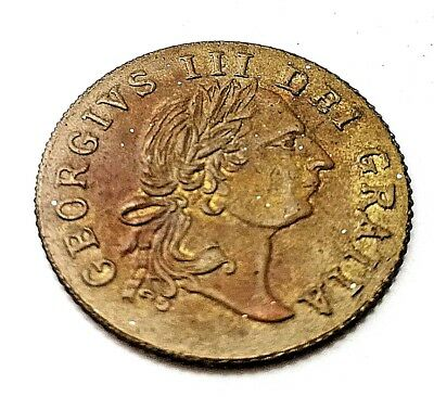 1797 Token Old Coin British Gold Lustre King George Unusual Shield Find Antique
