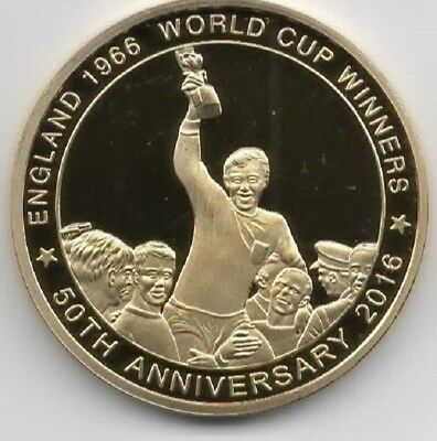 England 1966 World Cup Gold Coin Video of Old Goal Amazing Unique Russia 2018 UK