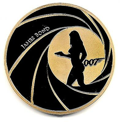 007 James Bond Gold Coin Nude Sexy Girl Casino Royal 25 Year Anniversary Old UK
