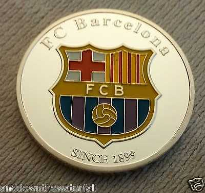 Lionel Messi FC Barcelona Silver Coin Nou Camp Soccer Spain Argentina Club Crest