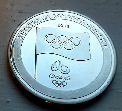 Rio to London Silver Coin Olympic Games 2012 2016 Brazil England Flag Logo UK