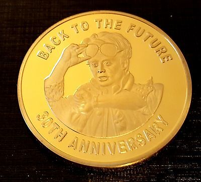 Back to the Future Gold Coin Trilogy Michael J Fox Iconic Movie Past History USA