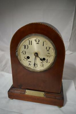 Vintage Wooden 1920's Dome Tall Mantel Clock