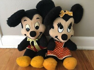 Vintage antique Mickey Mouse stuffed animal, Walt Disney Productions!