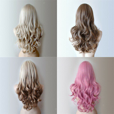 High Quality Long Curly Wigs Heat Resistant Synthetic Hair for Women Girls