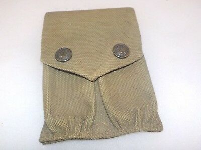 Early WWI RIMMED EAGLE SNAP Magazine Pouch 1911 Colt MILLS 1914 dated ORIGINAL