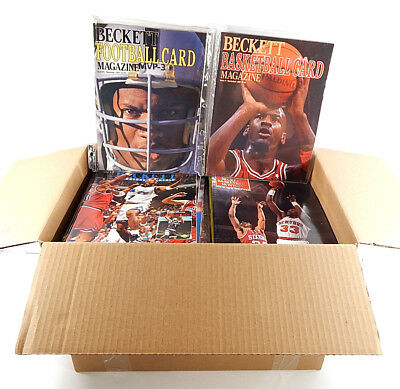Over (100) 1980's 1990's Sports Magazines ^ Beckett Guides & Sports Illustrated