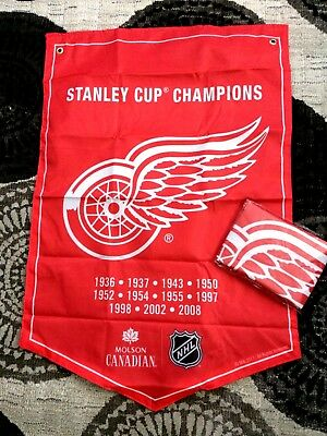2018  Molson Canadian  Stanley Cup Champions Banner  Detroit Red Wings