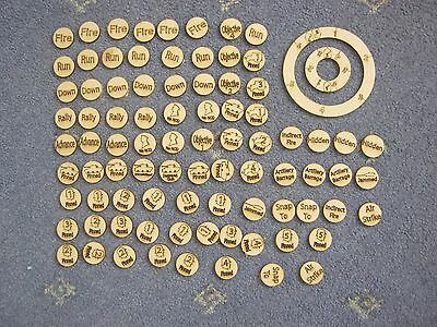 25mm Bolt Action Tokens & Templates for 2nd Edition Warlord Games New 28mm Game
