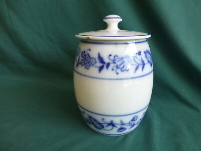 Antique Germany Blue and White Canister Jar
