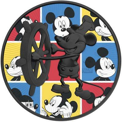 Niue 2017 2$ Steamboat Willie Color Squares 1 Oz Silver Ruthenium Coin