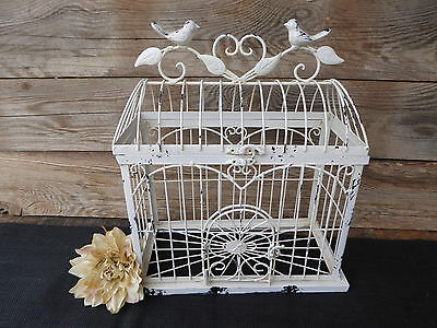 Antique Style White Metal Decorative Bird Cage Wedding Venue Decor
