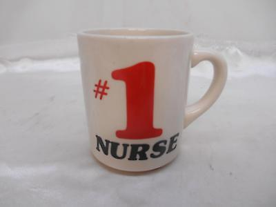 Old Vtg #1 NURSE Pottery COFFEE CUP Mug Made England Decorative Collectibles