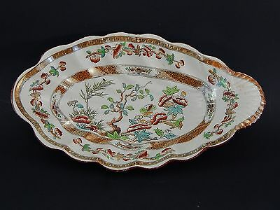 """Antique 19th C Spode  W T Copeland & Sons India Tree Relish Pickle Dish 8.5"""""""