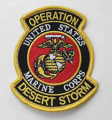 Usmc Marines Operation Desert Storm Gulf War Embroidered Patch 3.5 X 3 Inches