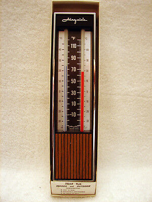 NEW Vintage Airguide 421-W Indoor / Outdoor Thermometer Chicago USA