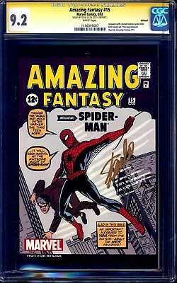 Amazing Fantasy #15 CGC SS 9.2 DVD REPRINT EDITION signed Stan Lee 1st Spidey