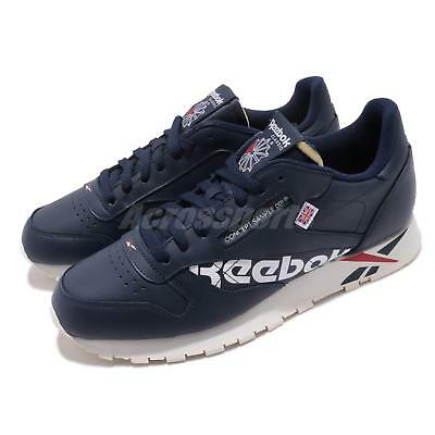 huge discount 13c2f 03a10 Reebok Classic Leather Altered MU Navy White Red Chalk Men Shoes Sneakers  DV5050