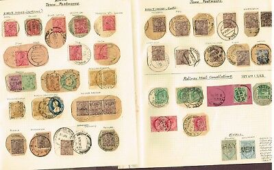 2-Pages Burma Postmarks On India Stamps F-Vf   (Cem6,8