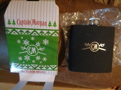 Captain Morgan Rum 6 Oz Flask New In Gift Box! Cool!