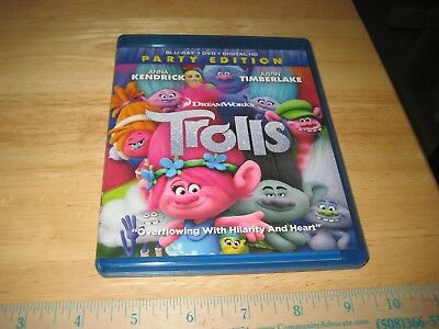 Trolls (Blu-ray Disc, 2017, 2-Disc Set, Includes Digital Copy)  Party Edition!