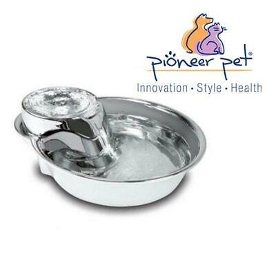 Pioneer Pet 3.78L BIG Dog Drink Water Drinking Stainless Steel Fountain Pet Bowl