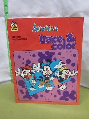 ANIMANIACS Spielberg activity book 1994 incomplete w/ tracing tissue Hello Nurse