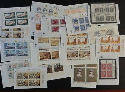 Canadian Lot Of Misc. Plate Block Varieties M/mn Cond. Stamps, Unitrade Bv$693