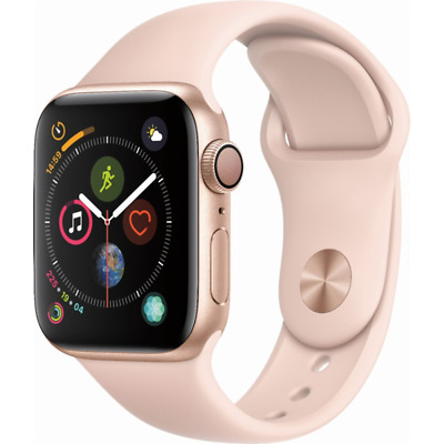 Apple Watch Series 4 GPS 44mm Gold Case with Pink Sand Sport Band MU6F2LL/A