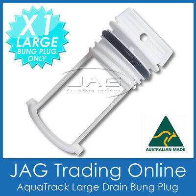 1 x AQUATRACK WHITE LARGE REPLACEMENT BUNG ONLY - BOAT DRAIN PLUG COARSE THEAD