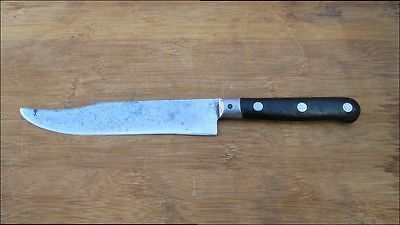 RARE Antique Raoux? French Chef's Knife from Lyon?, w/RAZOR SHARP Clipped Blade