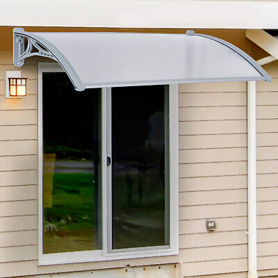 Door Awning Cover Bracket Canopy Porch Window 140cm x 70cm Patio