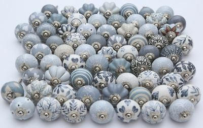 Grey Ceramic Drawer Knobs Door Cupboard Pulls Handles Kitchen Knobs